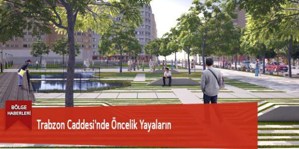 Trabzon Caddesi'nde Öncelik Yayaların