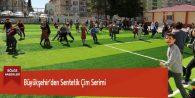 Büyükşehir'den Sentetik Çim Serimi