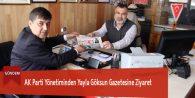 AK Parti Yönetiminden Yayla Göksun Gazetesine Ziyaret