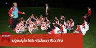 Başkan Aydın, Minik Futbolculara Moral Verdi