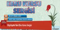 Büyükşehir'den Ebru Kursu Sergisi