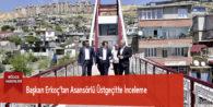 Başkan Erkoç'tan Asansörlü Üstgeçitte İnceleme