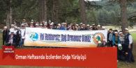 Orman Haftasında İzcilerden Doğa Yürüyüşü