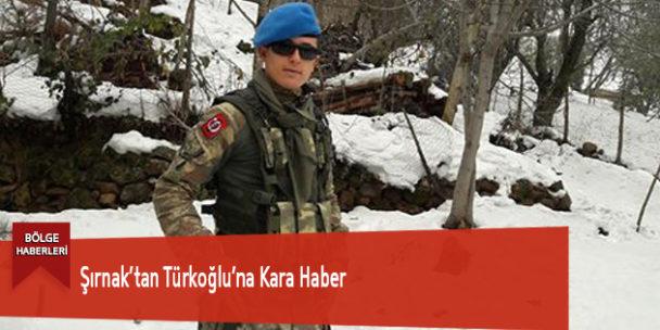 Şırnak'tan Türkoğlu'na Kara Haber