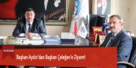 Başkan Aydın'dan Başkan Çeleğen'e Ziyaret