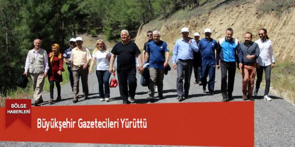 Büyükşehir Gazetecileri Yürüttü