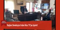 Başkan Deveboynu'ndan Aksu TV'ye ziyaret