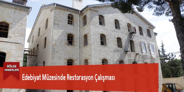 Edebiyat Müzesinde Restorasyon Çalışması