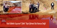 Kızıl Göletin Suyunun'' Şifalı'' Diye İçilmesi Söz Konusu Değil