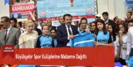 Büyükşehir Spor Kulüplerine Malzeme Dağıttı