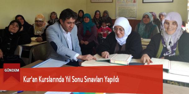 Kur'an Kurslarında Yıl Sonu Sınavları Yapıldı