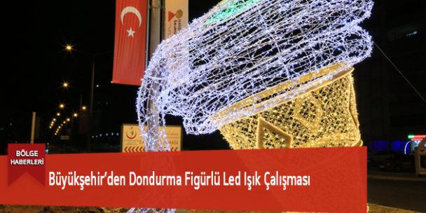Büyükşehir'den Dondurma Figürlü Led Işık Çalışması