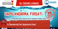 Su Ödemelerinde Yeni Yapılandırma Fırsatı