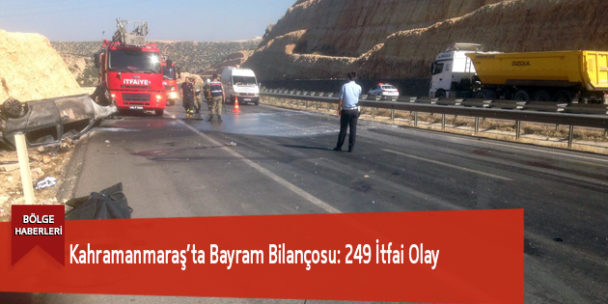 Kahramanmaraş'ta Bayram Bilançosu: 249 İtfai Olay