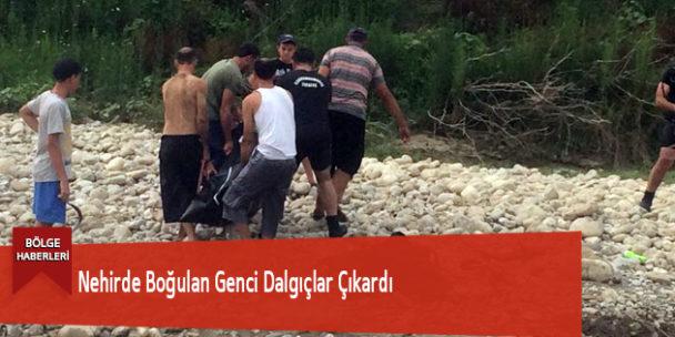 Nehirde Boğulan Genci Dalgıçlar Çıkardı
