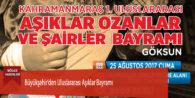 Büyükşehir'den Uluslararası Aşıklar Bayramı