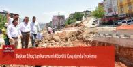 Başkan Erkoç'tan Karamanlı Köprülü Kavşağında İnceleme