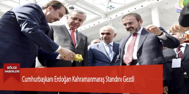 Cumhurbaşkanı Erdoğan Kahramanmaraş Standını Gezdi