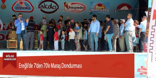 Ereğli'de 7'den 70'e Maraş Dondurması