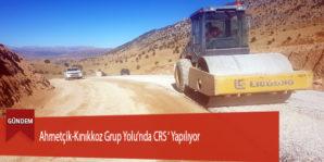 Ahmetçik-Kınıkkoz Grup Yolu'nda CRS ' Yapılıyor