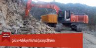 Çokran-Kalekaya Yolu'nda Şarampol Bakımı