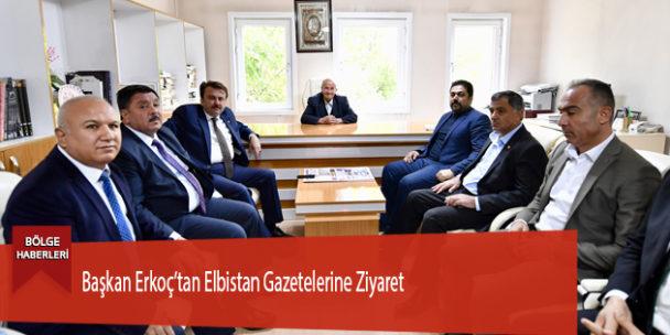 Başkan Erkoç'tan Elbistan Gazetelerine Ziyaret