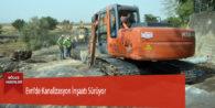 Evri'de Kanalizasyon İnşaatı Sürüyor