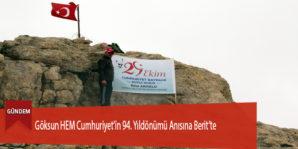 Göksun HEM Cumhuriyet'in 94. Yıldönümü Anısına Berit'te