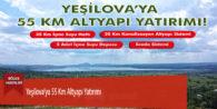 Yeşilova'ya 55 Km Altyapı Yatırımı