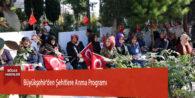 Büyükşehir'den Şehitlere Anma Programı