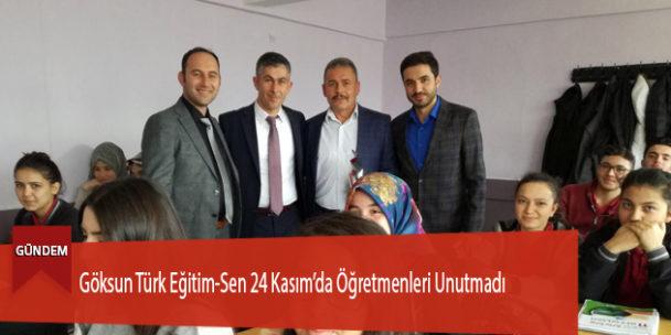 Göksun Türk Eğitim-Sen 24 Kasım'da Öğretmenleri Unutmadı