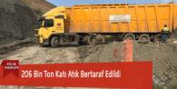 206 Bin Ton Katı Atık Bertaraf Edildi