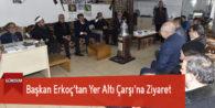 Başkan Erkoç'tan Yer Altı Çarşı'na Ziyaret