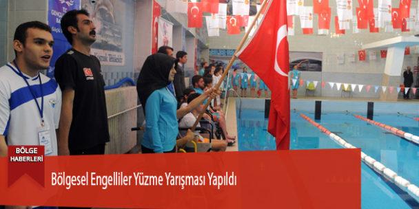 Bölgesel Engelliler Yüzme Yarışması Yapıldı