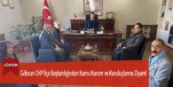 Göksun CHP İlçe Başkanlığından Kamu Kurum ve Kuruluşlarına Ziyaret