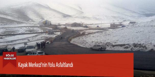 Kayak Merkezi'nin Yolu Asfaltlandı