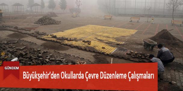 Büyükşehir'den Okullarda Çevre Düzenleme Çalışmaları