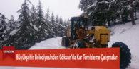 Büyükşehir Belediyesinden Göksun'da Kar Temizleme Çalışmaları