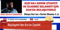 Büyükşehir'den Kur'an Ziyafeti