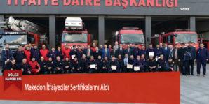 Makedon İtfaiyeciler Sertifikalarını Aldı