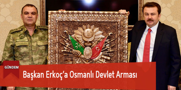 Başkan Erkoç'a Osmanlı Devlet Arması