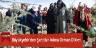 Büyükşehir'den Şehitler Adına Orman Dikimi