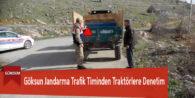 Göksun Jandarma Trafik Timinden Traktörlere Denetim