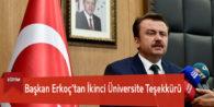 Başkan Erkoç'tan İkinci Üniversite Teşekkürü