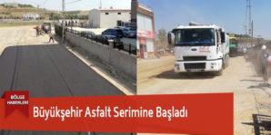 Büyükşehir Asfalt Serimine Başladı