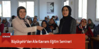 Büyükşehir'den Aile Kavramı Eğitim Semineri