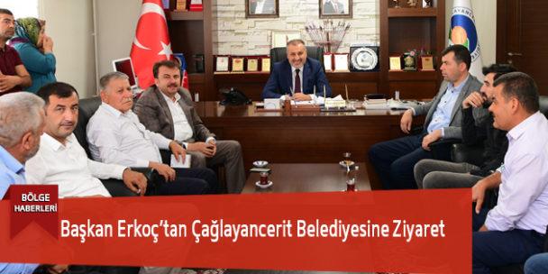 Başkan Erkoç'tan Çağlayancerit Belediyesine Ziyaret
