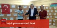 Suriyeli İş Adamından Anlamlı Destek