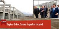 Başkan Erkoç Sanayi İnşaatını İnceledi