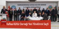 Kafkas Kültür Derneği Yeni Yönetimini Seçti
